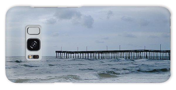 A Fishing Pier At Dawn Galaxy Case