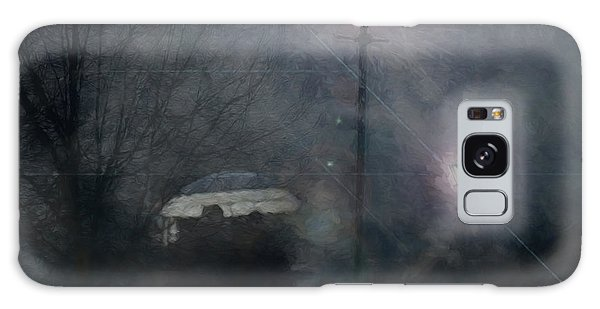 Galaxy Case featuring the photograph A Foggy Night Romance by LemonArt Photography