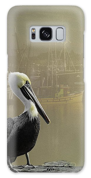 A Foggy Pelican Sunset Galaxy Case by Diane Schuster