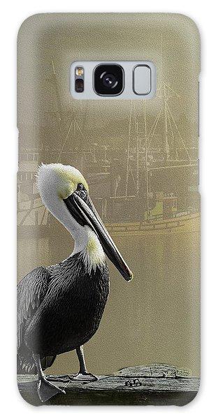 A Foggy Pelican Sunset Galaxy Case