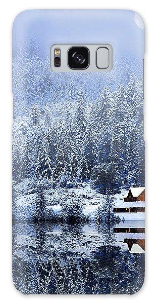 A Foggy Winter Night Galaxy Case by Diane Schuster