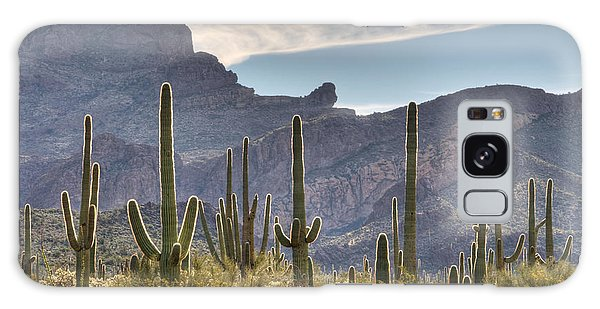 A Forest Of Saguaro Cacti Galaxy Case by Vivian Christopher