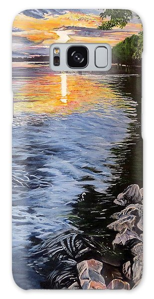 A Fraser River Sunset Galaxy Case