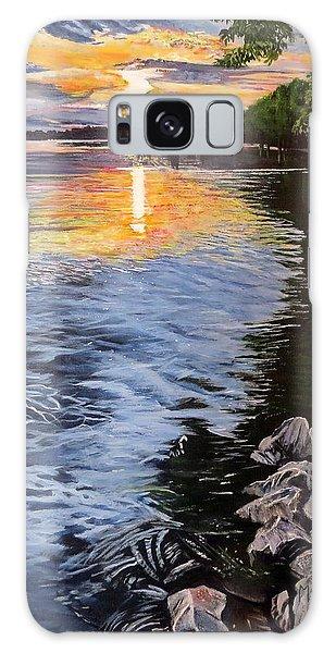 A Fraser River Sunset Galaxy Case