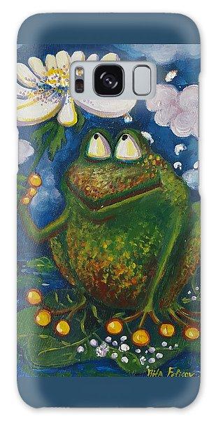 Frog In The Rain Galaxy Case by Rita Fetisov