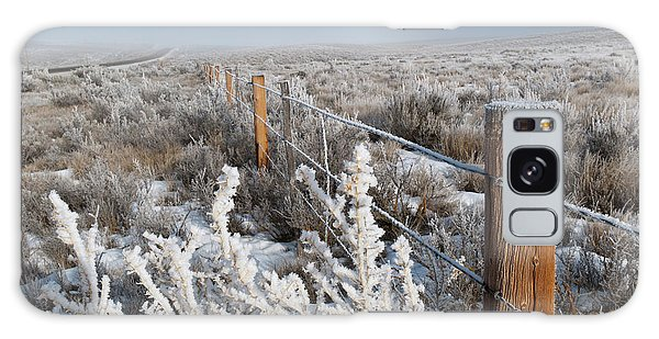 A Frosty And Foggy Morning On The Way To Steamboat Springs Galaxy Case