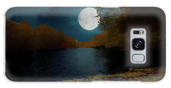A Full Moon On A River. Galaxy Case