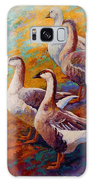 A Gaggle Of Four - Geese Galaxy Case