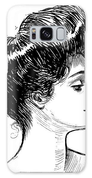 Beautiful Girl Galaxy Case - A Gibson Girl, 1902 Litho by Charles Dana Gibson