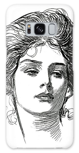 Beautiful Girl Galaxy Case - A Gibson Girl, C 1902 by Charles Dana Gibson