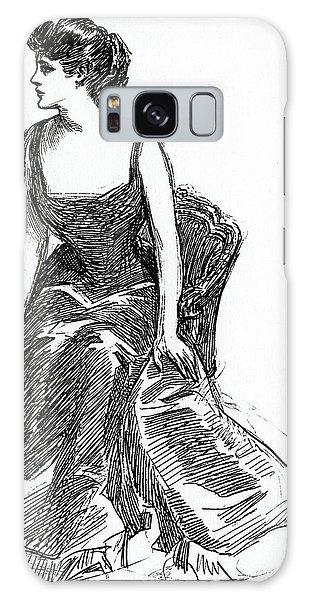 Beautiful Girl Galaxy Case - A Gibson Girl, C1902 Litho by Charles Dana Gibson