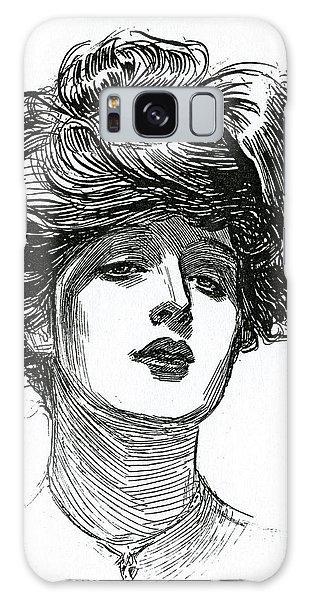 Beautiful Girl Galaxy Case - A Gibson Girl, Circa 1902 Lithograph by Charles Dana Gibson