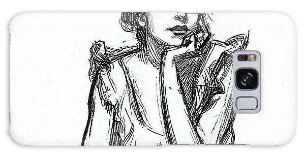 Beautiful Girl Galaxy Case - A Gibson Girl Posing by Charles Dana Gibson