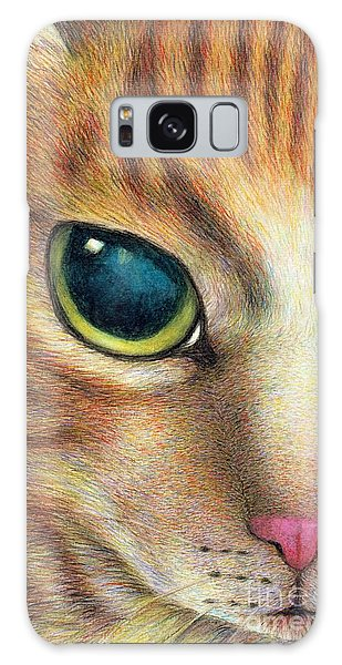 A Ginger Cat Face Galaxy Case