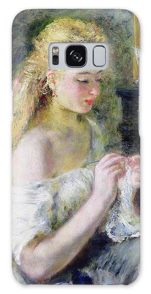 Earring Galaxy Case - A Girl Crocheting by Pierre Auguste Renoir