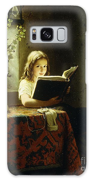 A Girl Reading Galaxy Case