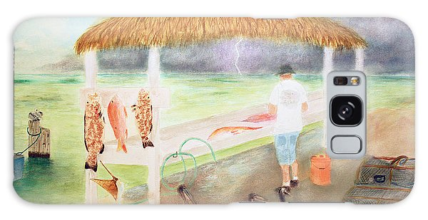 Mangrove Snapper Galaxy Case - A Good Day Of Fishing Greeting Card by Ken Figurski