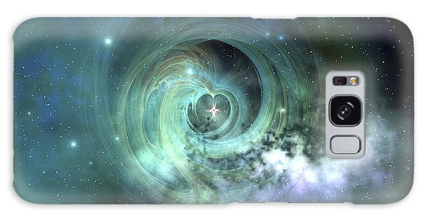 Galaxy Case featuring the digital art A Gorgeous Nebula In Outer Space by Corey Ford