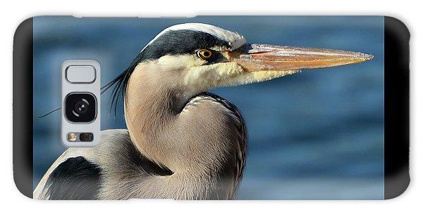 A Great Blue Heron Posing Galaxy Case