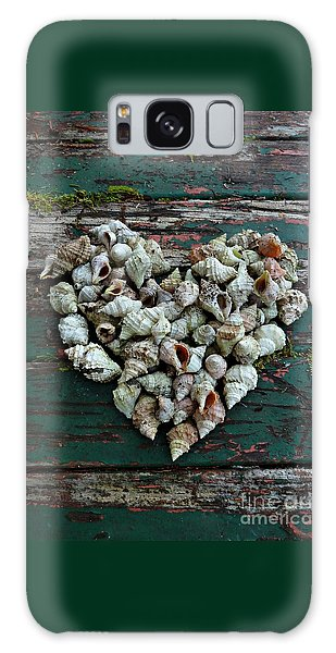 A Heart Made Of Shells Galaxy Case