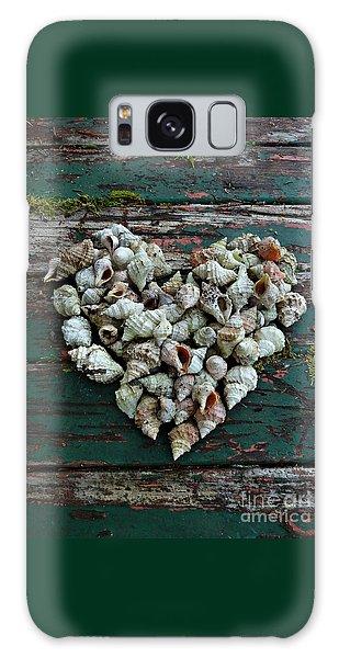 A Heart Made Of Shells Galaxy Case
