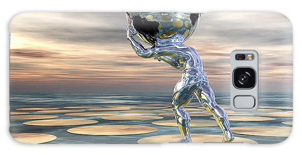 Galaxy Case featuring the digital art A Heavy Burden by Sandra Bauser Digital Art