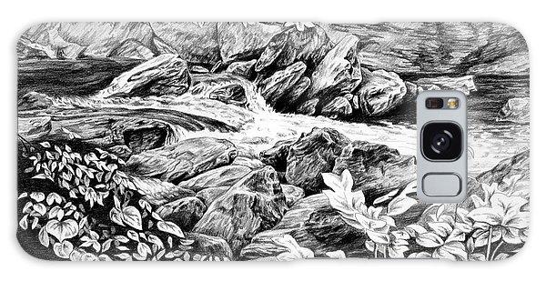 A Hiker's View - Landscape Print Galaxy Case