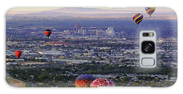 A Hot Air Ride To Albuquerque Cropped Galaxy Case by Daniel Woodrum