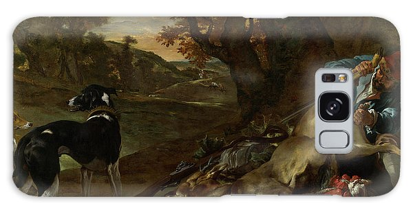 Carcass Galaxy Case - A Huntsman Cutting Up A Dead Deer, With Two Deerhounds by Jan Weenix