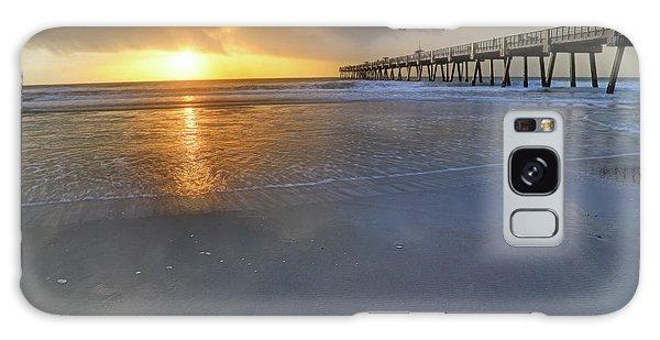 A Jacksonville Beach Sunrise - Florida - Ocean - Pier  Galaxy Case