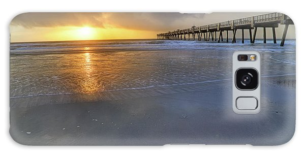 A Jacksonville Beach Sunrise - Florida - Ocean - Pier  Galaxy Case
