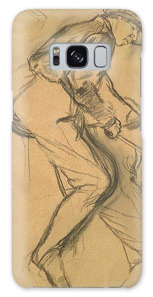 Sport Art Galaxy Case - A Jockey by Edgar Degas