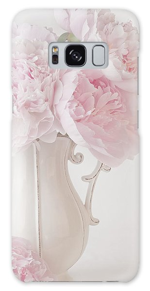 A Jug Of Soft Pink Peonies Galaxy Case by Sandra Foster