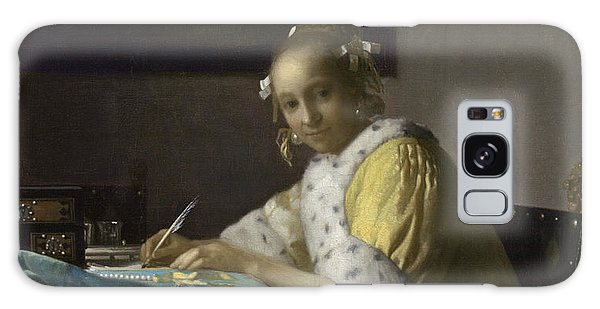 Jan Vermeer Galaxy Case - A Lady Writing by Jan Vermeer