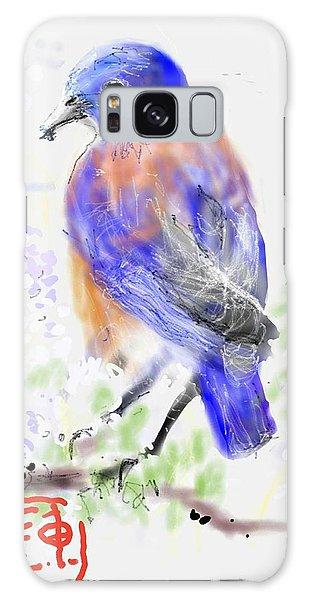 A Little Bird In Blue Galaxy Case