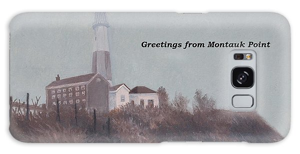 A Little Fog On Montauk Point Lighthouse Galaxy Case by Barbara Barber