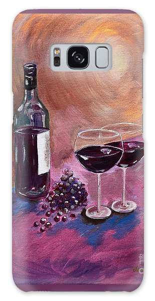 A Little Wine On My Canvas - Wine - Grapes Galaxy Case