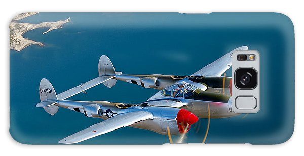 Galaxy Case featuring the photograph A Lockheed P-38 Lightning Fighter by Scott Germain