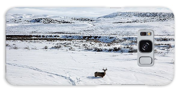A Lone Buck Deer In Carbon County, Wyoming Galaxy Case by Carol M Highsmith