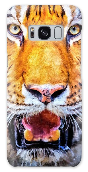 A Look Into The Tiger's Eyes Large Canvas Art, Canvas Print, Large Art, Large Wall Decor, Home Decor Galaxy Case by David Millenheft