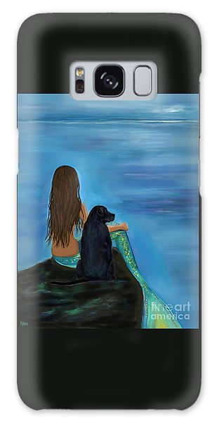Galaxy Case featuring the painting A Loyal Buddy by Leslie Allen