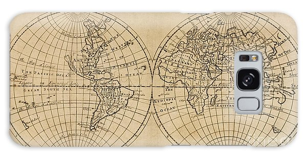 Shipwreck Galaxy Case - A Map Of The World On Which Is Delineated The Voyage Of Robinson Crusoe by English School