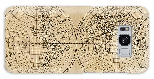 Shipwreck Galaxy Case - A Map Of The World With The Voyage Of Robinson Crusoe by English School