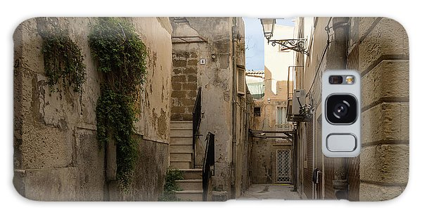 A Marble Staircase To Nowhere - Tiny Italian Lane In Syracuse Sicily Galaxy Case