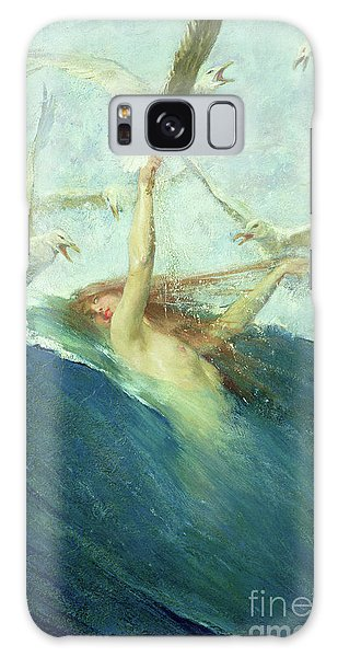 Song Bird Galaxy Case - A Mermaid Being Mobbed By Seagulls by Giovanni Segantini
