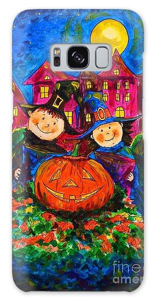 A Merry Halloween Galaxy Case by Zaira Dzhaubaeva