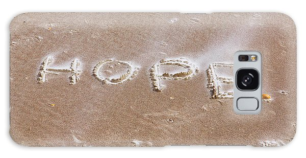 A Message On The Beach Galaxy Case by John M Bailey
