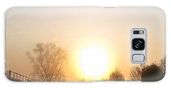A Misty Morning Walk Galaxy Case by Charmaine Zoe