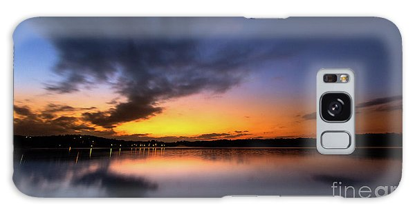 A Misty Sunset On Lake Lanier Galaxy Case