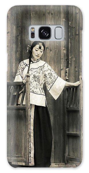 A Model In A Period Costume. Galaxy Case